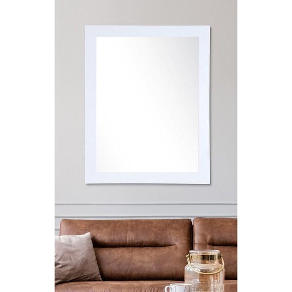 Farmhouse Pearl White Wall Mirror - Pearl White