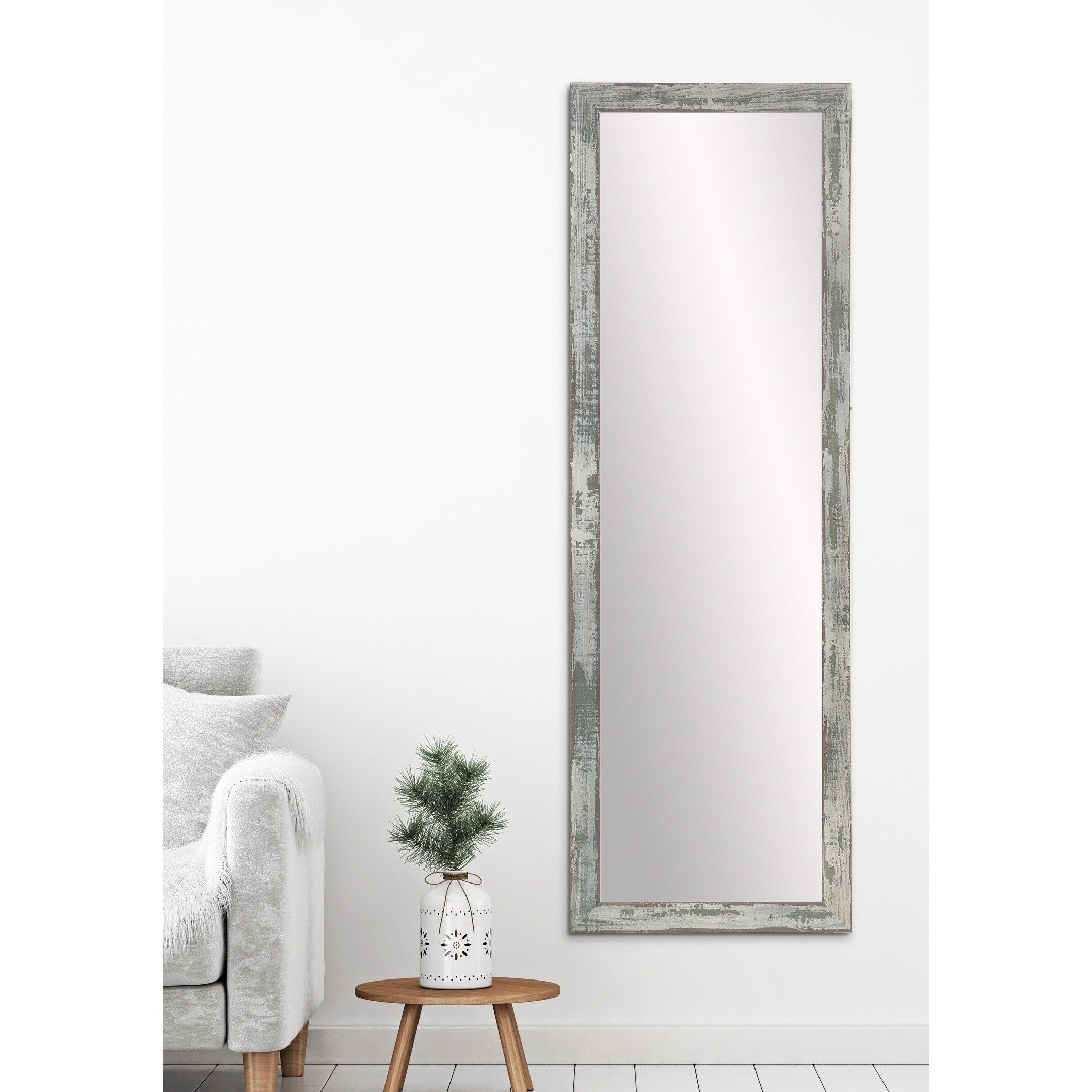Brilliant Farmhouse Sage Accent Mirror Sage Brown Gray Pdpeps Interior Chair Design Pdpepsorg