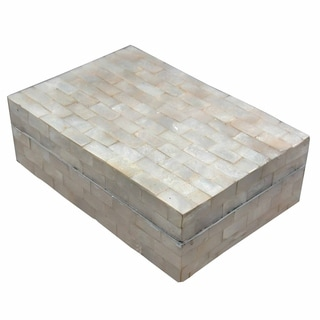 Link to Handmade Capiz Oyster Shell Box with Lid (Indonesia) Similar Items in Accent Pieces