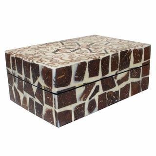 Handmade Natural Cinnamon and Coconut Shell Box (Indonesia)