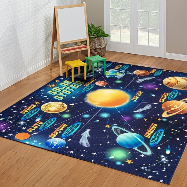 Smithsonian Way Out in Space Kids Area Rug