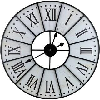 Metal Wall Clock - Beige
