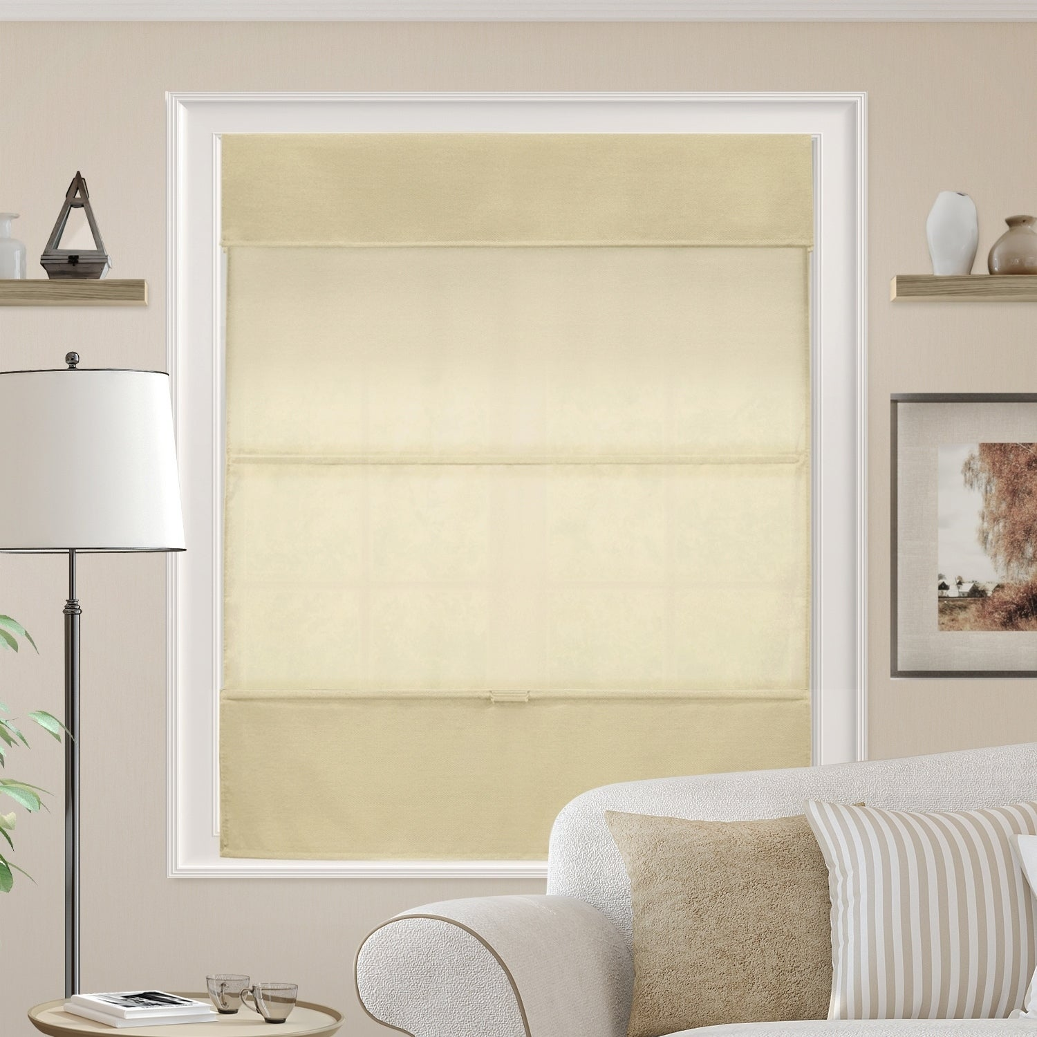 Chicology Cordless Magnetic Roman Shades Privacy Fabric Window Blind Daily Canvas Light Filtering Overstock 27778697 Daily Canvas Light Filtering 27 W X 64 H