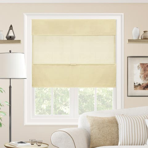 Chicology Cordless Magnetic Roman Shades, Privacy Fabric Window Blind, Daily Canvas (Light Filtering)