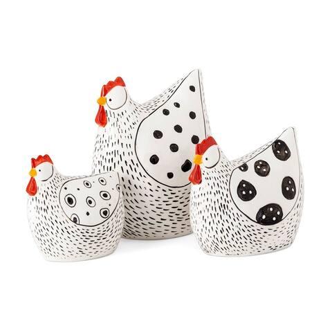 Farmstead Handpainted Chickens - Set of 3