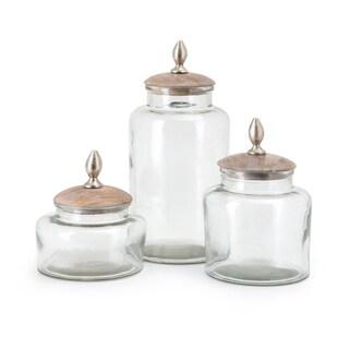 Trisha Yearwood Coffee Talk Glass Canisters - Set of 3