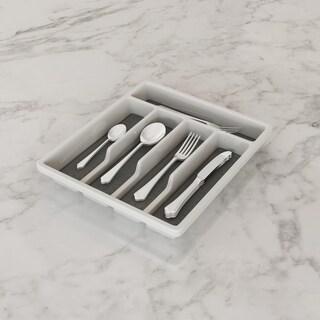Link to Lavish Home White Plastic 5-compartment Silverware Organizer Similar Items in Storage & Organization