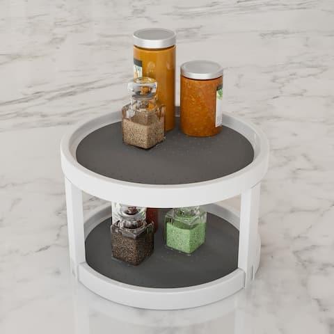 Lavish Home 9.75-inch Diameter Round Lazy Susan Turntable Kitchen/Pantry/Vanity Organizer with Nonskid Liner
