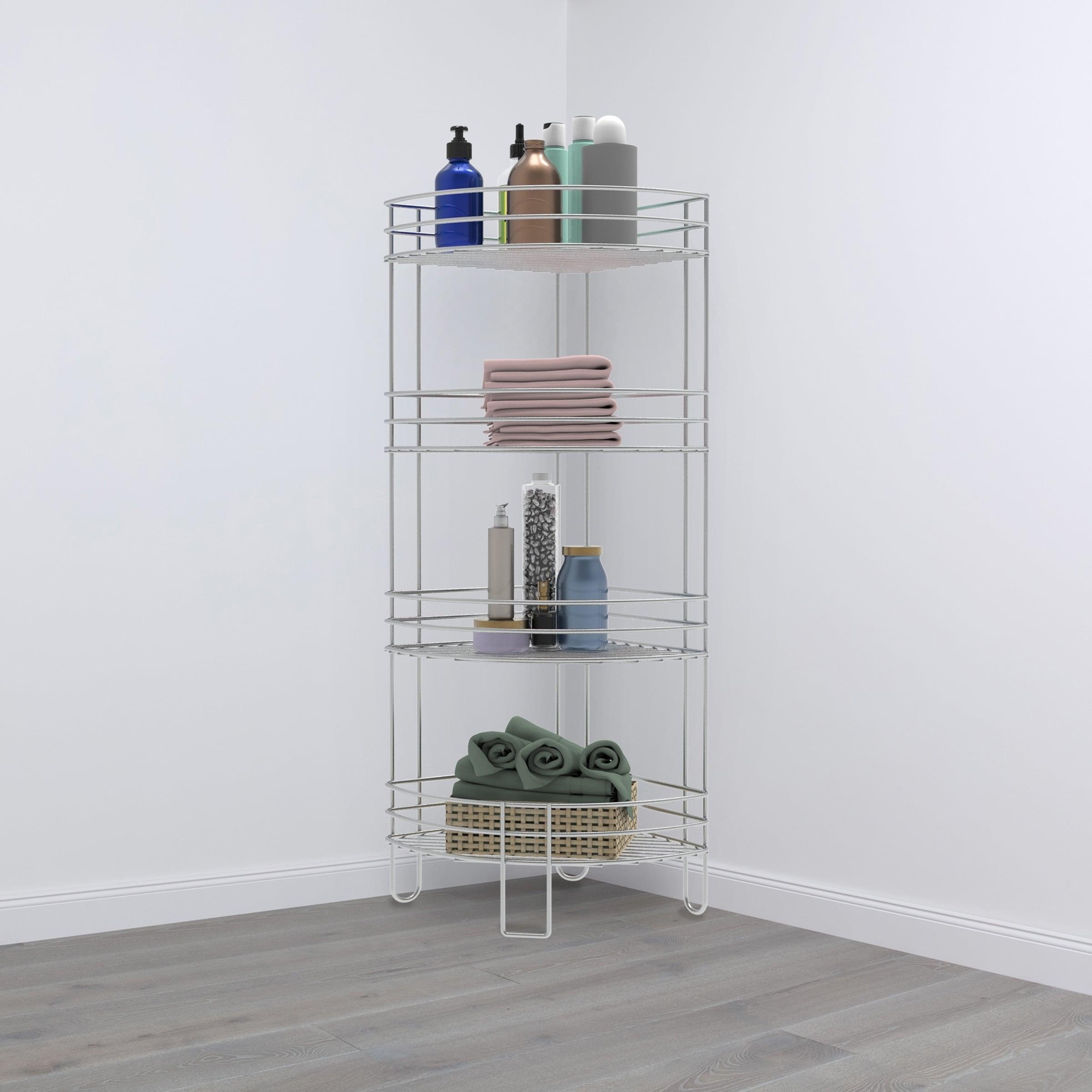 Lavish Home Wire Tiered Standing Corner Shelf