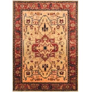Handmade Vegetable Dye Serapi Wool Rug (Afghanistan) - 9'6 x 13'4