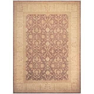 Handmade Vegetable Dye Oushak Wool Rug (India) - 9'8 x 13'5