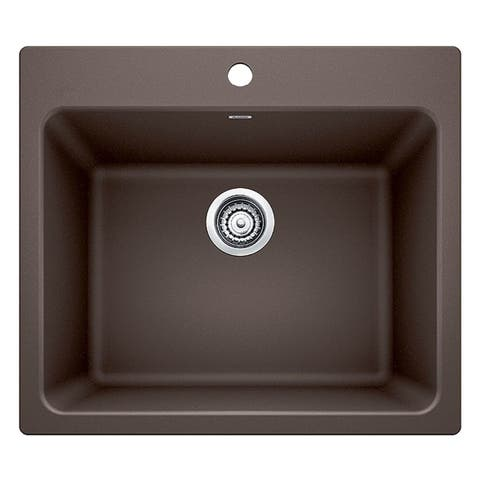 Blanco Liven Cafe Brown Granite Laundry Sink