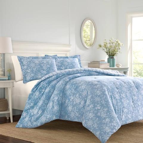 Laura Ashley Walled Garden Blue Comforter Set