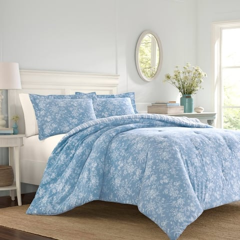 Laura Ashley Walled Garden Blue Comforter Set