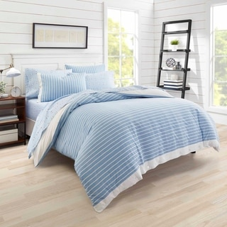Poppy & Fritz Lexington Stripe Blue Duvet Cover Set