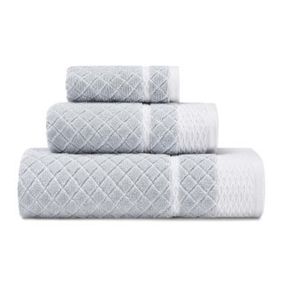 Laura Ashley Vintage Trellis Grey 3-Piece Towel Set