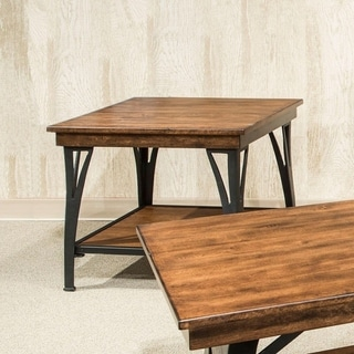 The District Copper Finish 1-shelf End Table