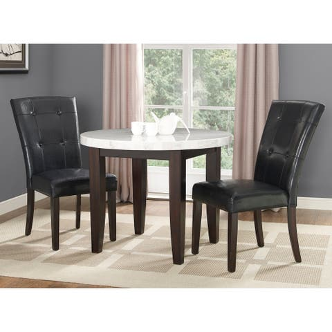 Fairfax White Marble 3PC Dining Set by Greyson Living