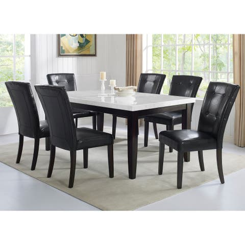 Fairfax White Marble 7PC Dining Set by Greyson Living