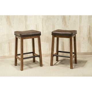 Link to Copper Grove Hanoi Brown 24-inch Backless Bar Stools (Set of 2) Similar Items in Dining Room & Bar Furniture