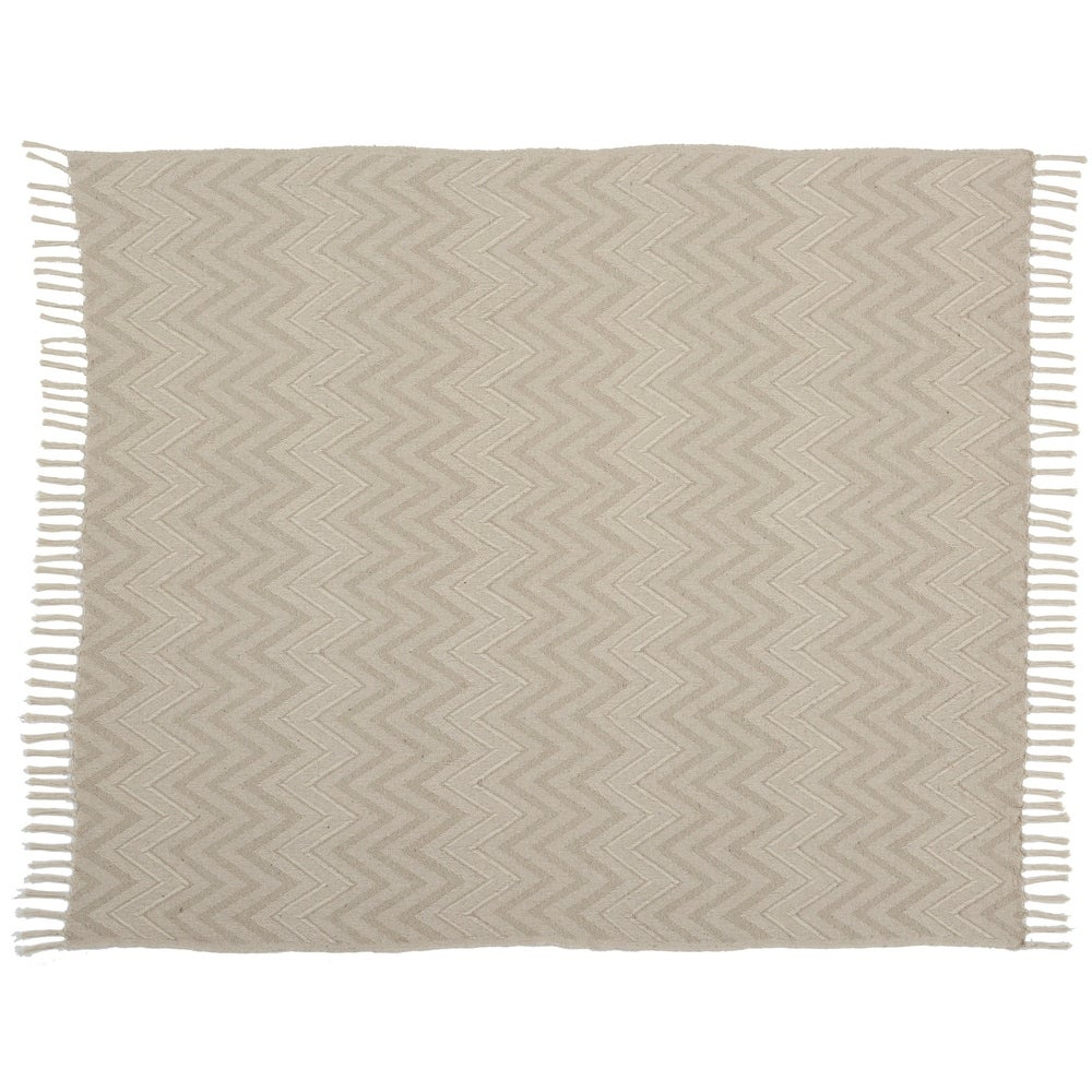 Mina Victory Knit Chevron Throw Blanket - Natural. Opens flyout.