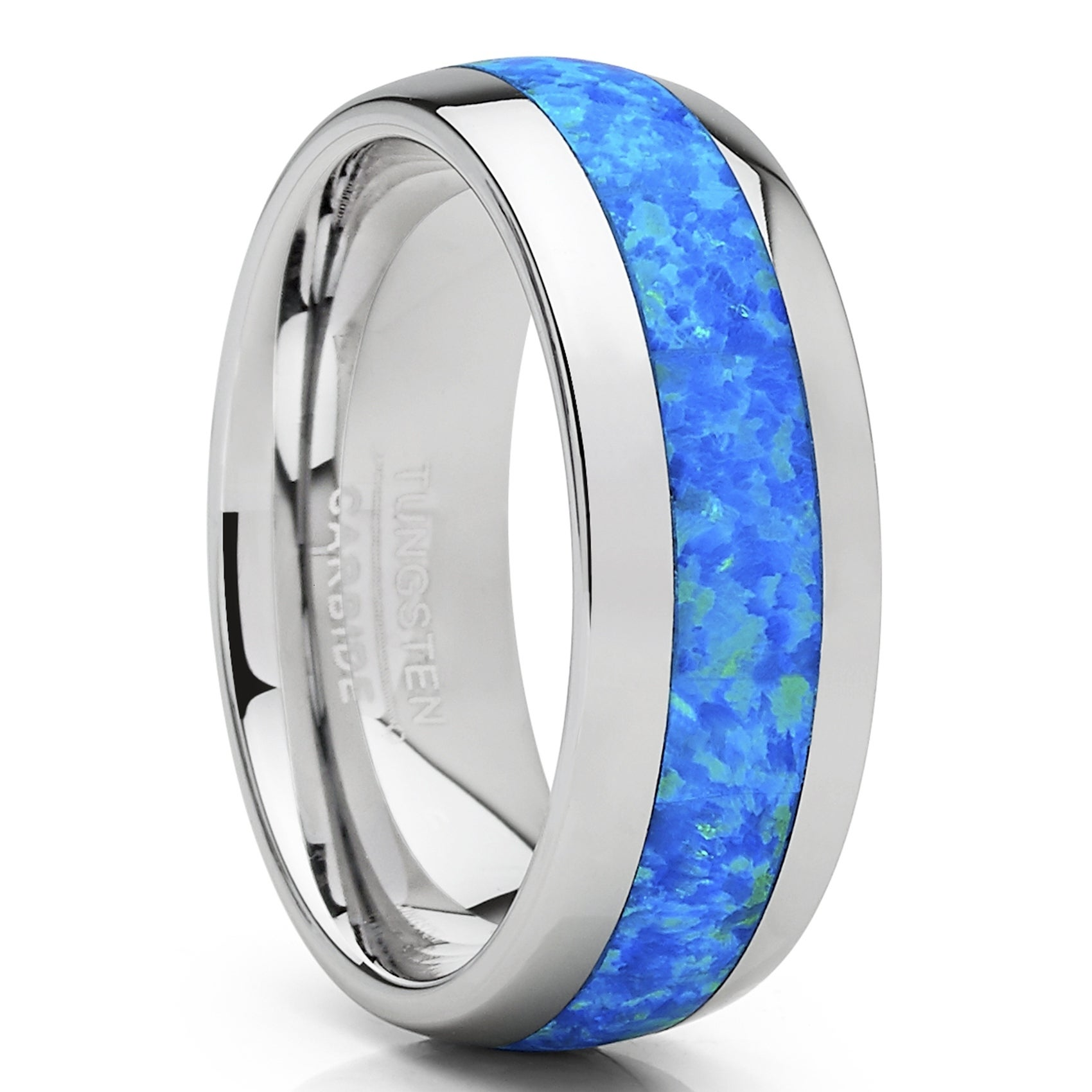 9mm Tungsten Carbide Ring Men/'s Wedding Band Simulated Diamond Brushed Size 6-13