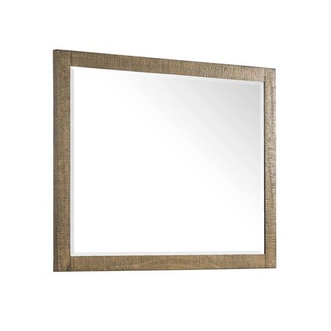 Urban Rustic Brushed Wheat Landscape Mirror