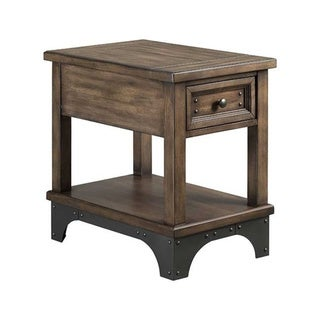 The Gray Barn Hatchery Gun Powder Grey 1-drawer Chairside Table