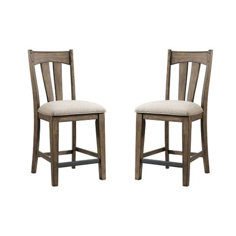 Whiskey River Splat Back Bar Stools (Set of 2)