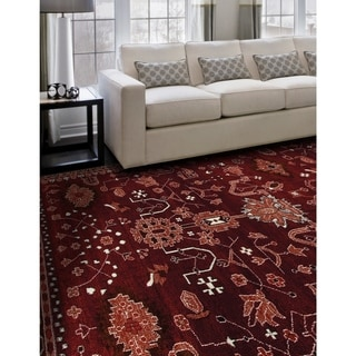 Arabia Oasis Red Rug | Overstock.com Shopping - The Best Deals on Area Rugs