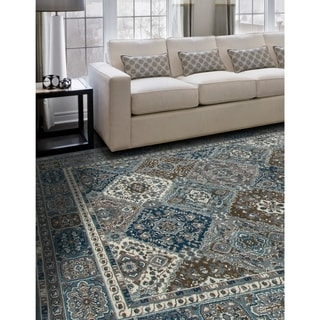 Porch & Den Whitmore Blue Diamond Area Rug