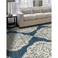 Arabia Medallion Blue Rug