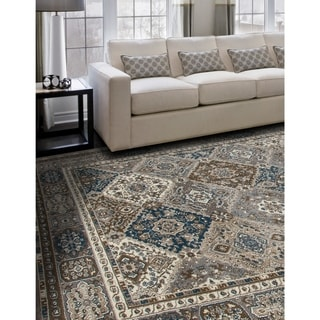 Porch & Den Whitmore Grey Diamond Area Rug