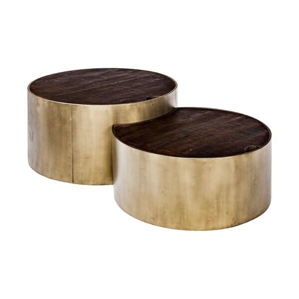 Cylinder wood coffee table