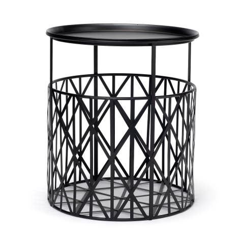 Mercana Renato Black Accent Table