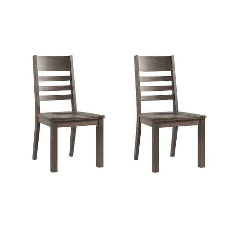Carbon Loft Vesna Brushed Cocoa Ladder Back Side Chairs (Set of 2)