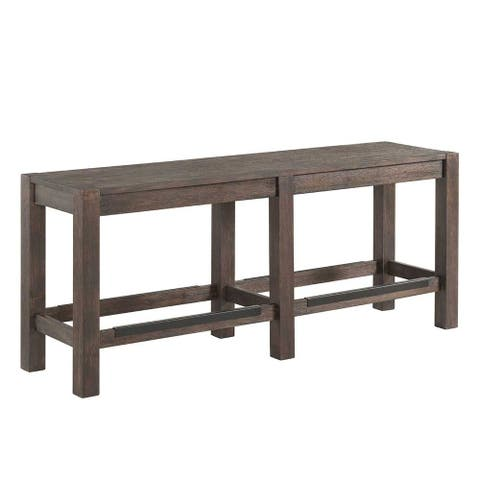 Salem Brushed Cocoa Backless Counter Bench