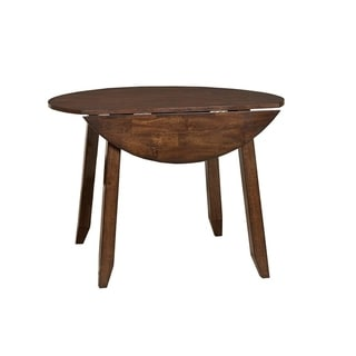 Kona Raisin Round Drop Leaf Dining Table - N/A