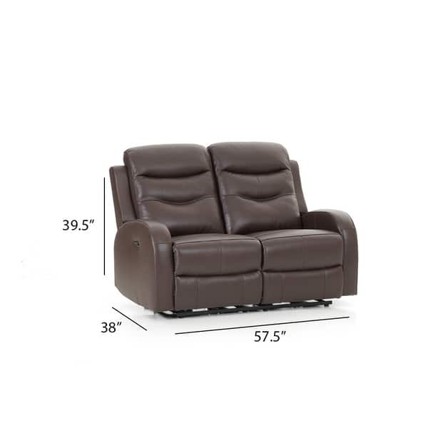 Astounding Shop Milano Leather Chocolate Power Reclining Loveseat Squirreltailoven Fun Painted Chair Ideas Images Squirreltailovenorg