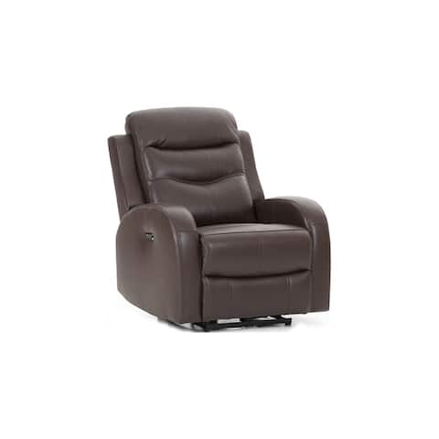 Milano Chocolate Leather Power Reclining Chair