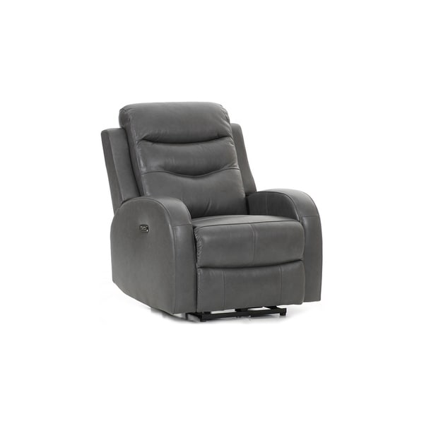 Milano Grey Leather Power Reclining Chair