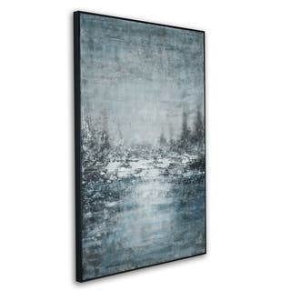 Gild Design House 'Frosted Brook' Framed Canvas