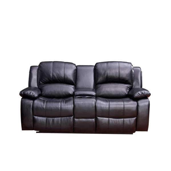 Shop Vanity Art Bonded Leather Sofa Manual Reclining ...