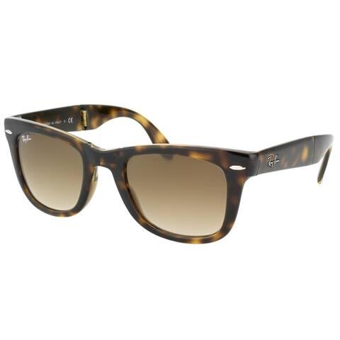 Ray-Ban Folding Wayfarer RB 4105 710/51 Unisex Havana Frame Crystal Brown Gradient Lens 50mm Sunglasses