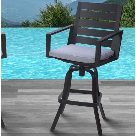 """30"""" Patio Bar Stools with Cushions"""