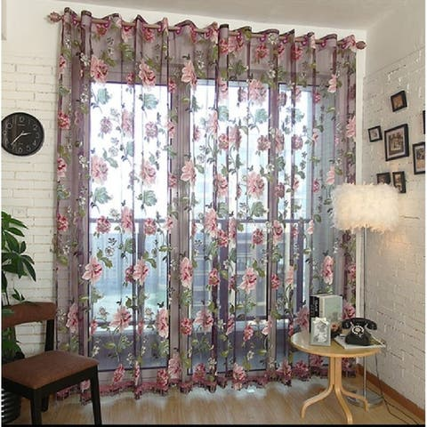 Window Privacy Curtains Sheer Panels, Bucharest