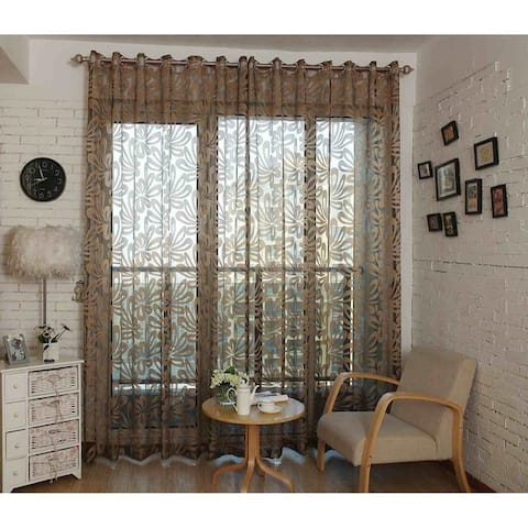 Window Privacy Curtains Sheer Panels, Barcelona