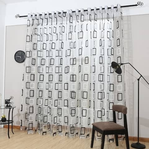 Window Privacy Curtains Sheer Panels, Prague