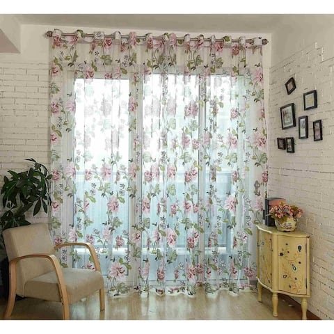 Window Privacy Curtains Sheer Panels, Budapest