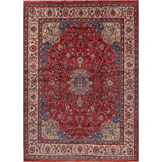 "One of a Kind Mahal Floral Handmade Wool Persian Oriental Area Rug - 13'2"" x 9'5"""